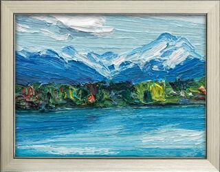 """Bild """"Der Starnberger See - blau"""" (2016), gerahmt"""