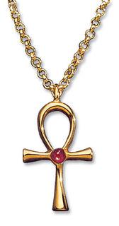 """Anhänger """"Glück bringendes Anch-Kreuz"""" mit Halskette"""