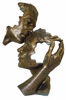 """Skulptur """"Poesie der Liebe"""", Kunstguss Steinoptik"""