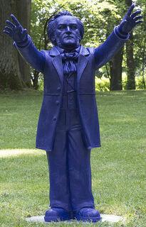 """Skulptur """"Richard Wagner"""", unsignierte Version nachtblau"""
