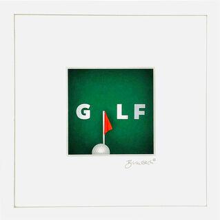"""3D-Bild """"Golf"""" (2020), gerahmt"""