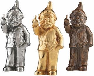 """3 Skulpturen """"Sponti-Zwerg"""" im Set"""
