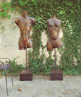 """Skulpturenpaar """"Adam und Eva"""", Bronze"""