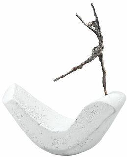"""Skulptur """"Freiheit"""", Bronze auf Steinguss"""