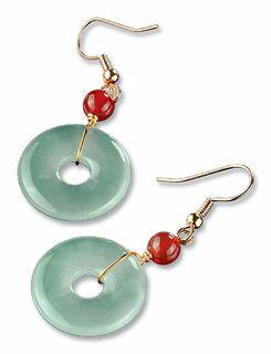 Chinesische Jade-Ohrhänger