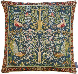 """Kissenhülle """"Lebensbaum blau"""" - nach William Morris"""