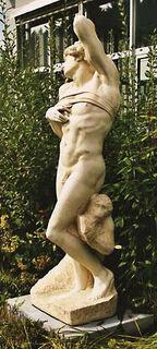 """Skulptur """"Sterbender Sklave"""" (Originalgröße), Kunstmarmor"""