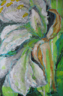 "Bild ""Amaryllis"" (2010) (Original / Unikat), gerahmt"