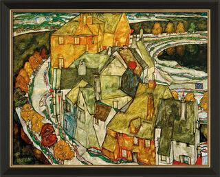 """Bild """"Der Häuserbogen (Inselstadt)"""" (1915), gerahmt"""
