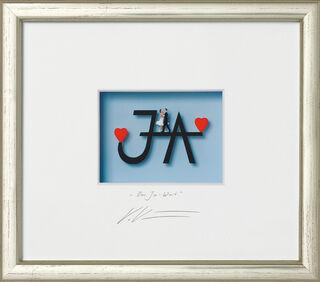 "3D-Bild ""Das Ja-Wort"", gerahmt"
