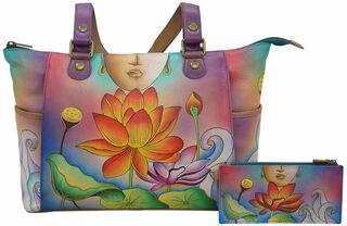 """Handtasche """"Yoga"""" der Marke Anuschka® mit Zusatztasche"""