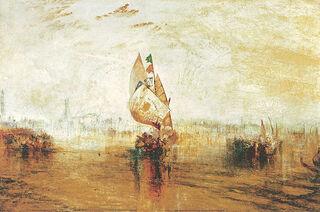 """Bild """"Die Sonne von Venedig"""" (1843), auf Keilrahmen"""