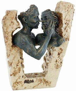 "Skulptur ""Zuneigung"", Kunstguss Steinoptik"