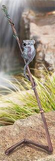 """Gartenskulptur """"Halm mit Maus"""", Bronze"""