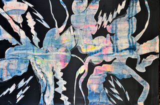 "Bild ""Bewegungslinien Blau"" (2018) (Unikat)"