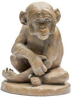 """Skulptur """"Schimpanse"""" (1896), Version in Steinguss"""