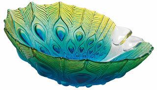 "Glasschale ""Pfau"" (groß, Ø ca. 28 cm)"