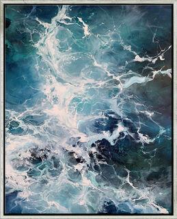"Bild ""Ocean Cubes II"" (2020) (Original / Unikat), gerahmt"