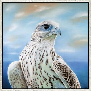 "Bild ""Der Falke"", gerahmt"