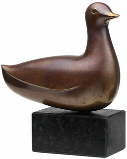 "Skulptur ""Junge Ente"", Bronze"