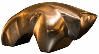 "Skulptur ""Bullish Star polished"", Version Bronze poliert"