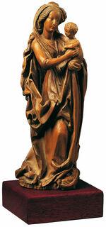 Madonna mit Kind, mit Holzsockel