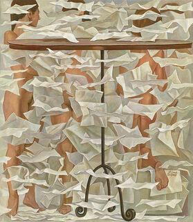 """Bild """"Blätterfall"""" (2007), auf Keilrahmen"""