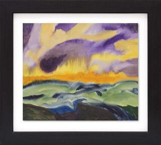 """Bild """"Gelb-violetter Himmel"""" (Unikat)"""