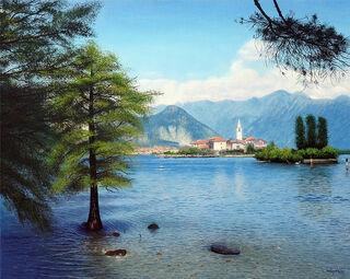 """Bild """"Spätsommer am Lago Maggiore"""" (2021) (Original / Unikat), auf Keilrahmen"""