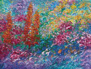 """Bild """"Garten II"""", auf Keilrahmen"""