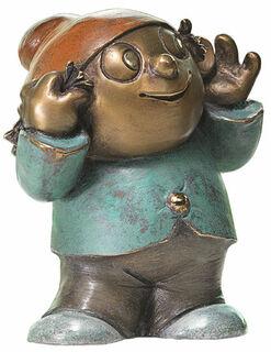 """Skulptur """"Mainzelmännchen Berti"""", Version in Bronze"""