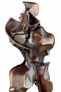 """Skulptur """"Forme Uniche della Continuitae Nello Spazio"""" (1913), Version in Bronze"""