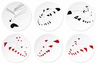 Kollektion Alexander Calder von Bernardaud - 6 Teller mit Künstlermotiven im Set, Porzellan