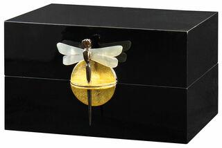 """Schatulle """"Dragon Fly"""", schwarz-goldfarbene Version"""