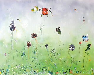 "Bild ""Hommage à Ravels Bolero"" (2019) (Original / Unikat), auf Keilrahmen"