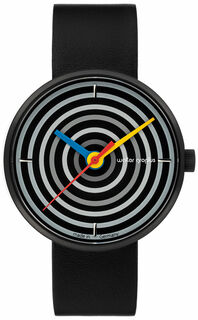 "Armbanduhr ""Space Loops schwarz"" im Bauhaus-Stil"