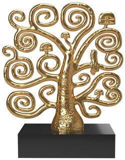 "Skulptur ""Lebensbaum"", Metallguss vergoldet"