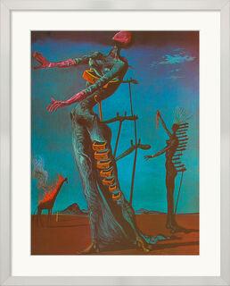"""Bild """"Die brennende Giraffe"""" (1935), gerahmt"""