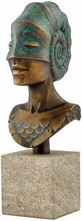 """Büste """"Kopf der Ammonite"""", Version in Bronze"""