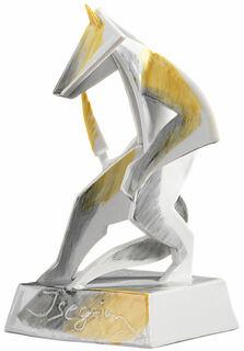 """Porzellanskulptur """"Isegrim, der Wolf"""" - nach Goethe"""