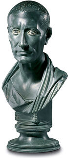 "Büste ""Gaius Julius Cäsar"", Kunstguss"