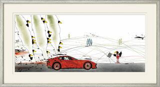 "Bild ""Ferrari Supercrow"" (2018), gerahmt"