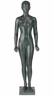"Skulptur ""Malaiin"" (1916), Reduktion in Bronze"