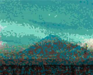 """Bild """"50 Ansichten des Berges Fuji_vom Zug aus betrachtet, Nr. XIX"""" (2010) (Unikat)"""