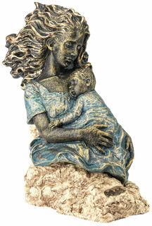 "Skulptur ""Mutterliebe"", Kunstguss Steinoptik"