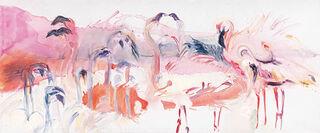 "Bild ""Flamingos"", auf Keilrahmen"