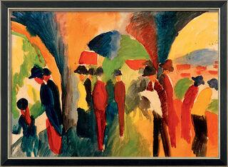 """Bild """"Unter den Lauben von Thun"""" (1913), gerahmt"""