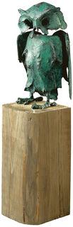 """Skulptur """"Eule"""" (1995), Bronze"""