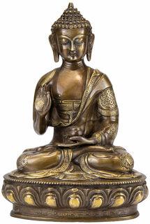 "Messingskulptur ""Kanakamuni Buddha - der Gold-Weise"""