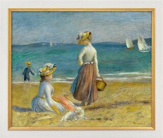 """Bild """"Zwei Frauen am Strand"""" (1890), gerahmt"""